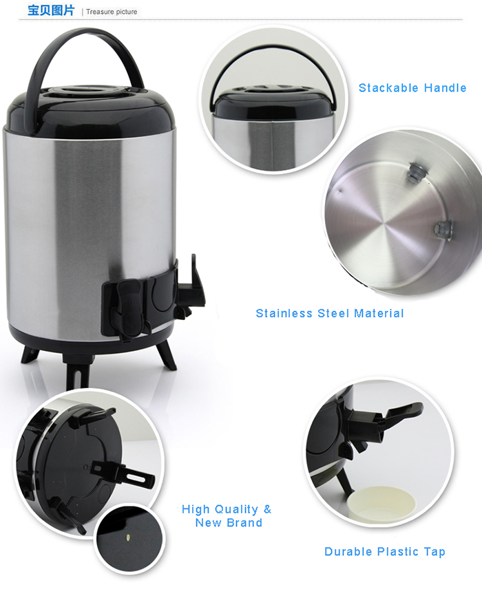 Stainless Steel Hot or Cold Water Drinking BBQ Camping Dispenser 10Litre/ 12Litre