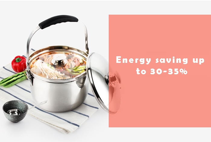 Flame Free Energy Saving Stainless Steel Cookware Cooking Pot 7 Litre