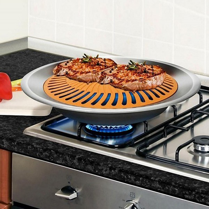 Gotham Steel Non Stick Smokeless Stove Top Grill Healthy