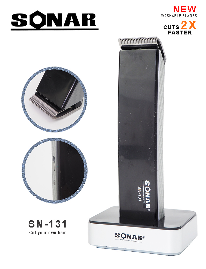 Sonar SN-131 Rechargeable Electric Hair Beard Clipper Trimmer Haircut Set Kit Cordless