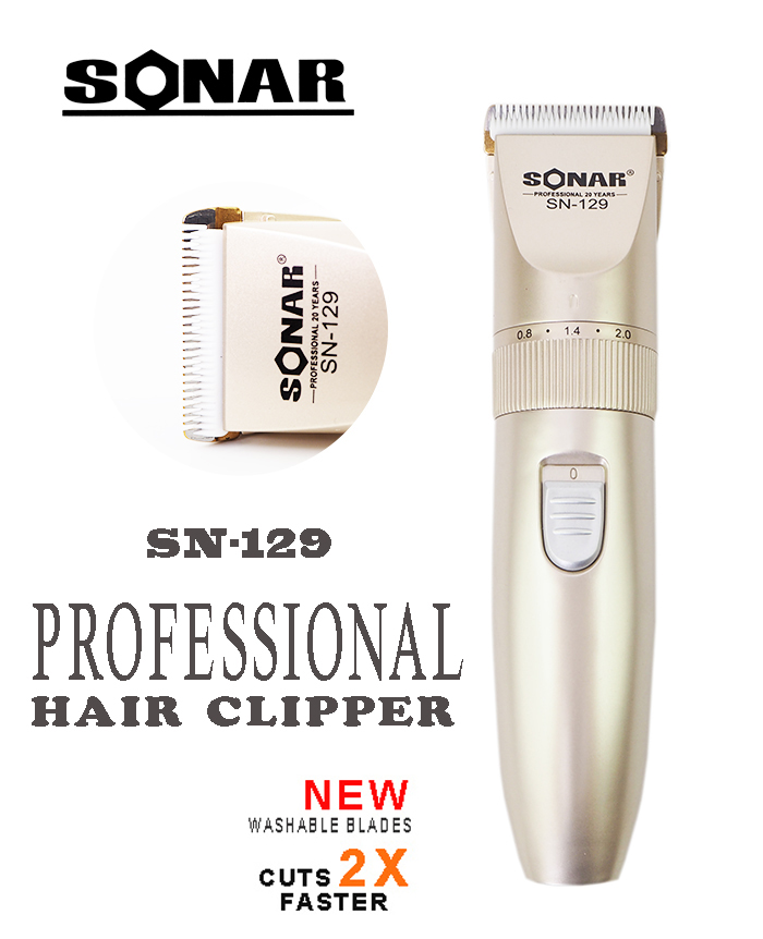 Sonar SN-129 Professional Rechargeable Electric Hair Clipper Suitable