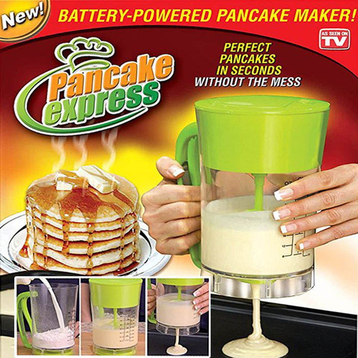 Automatic Pancake Machine Waffle Muffin Scone Cup Cake Bread Cake Mixer & Dispenser Bakeware