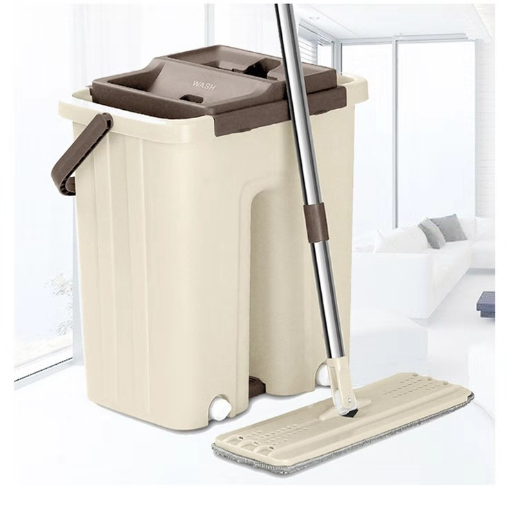 Self Clean Wash Dry Hands Free Magic Flat Spin Mop with Bucket
