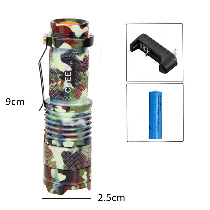 Zoom Infrared Light Flashlight Hunting Torch Lamp Night Vision