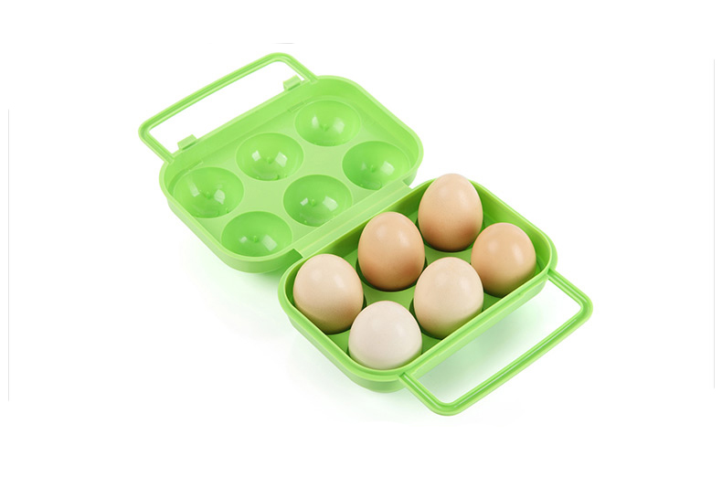 Portable Easy Carry 6 Egg Box Storage Refrigerator Anti-pressure Box Container