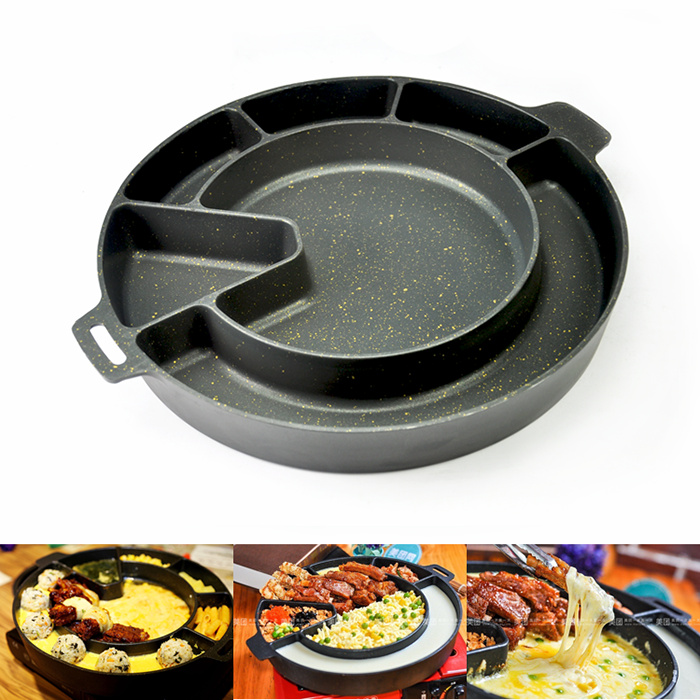 Korea BBQ Cheese Hot Pot Non-Stick Gas Stove Top Grill Pan