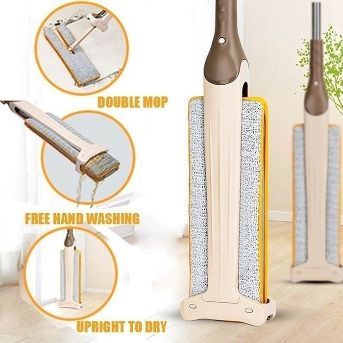 360 Degree Double Sided Flat Mop Free Hand Washing Lazy Hand Free Mop