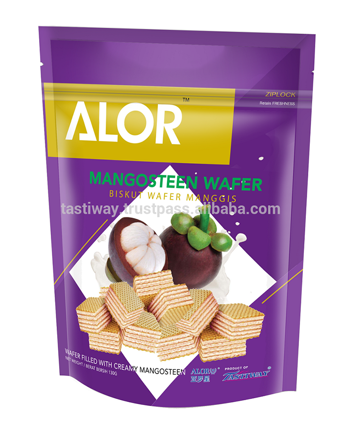 ALOR Mangosteen Wafer Creamy Filled Wafers 130 grams
