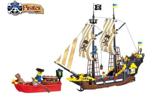 Enlighten 307 Pirate Ship Boat Adventure Building Block 590pcs