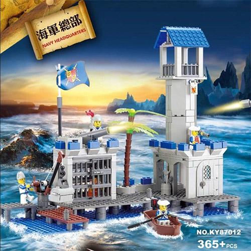 KAZI KY87012 Navy Navy Headquarters Pirate Ship Boat Building Blocks
