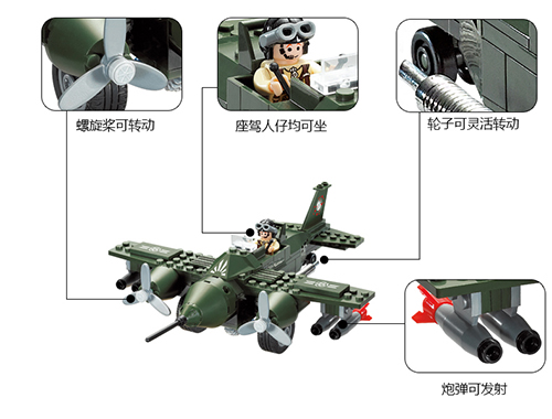 Enlighten 810 Air Force Military Combat Zones Series Block Bricks Toys