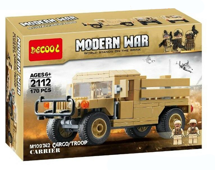 Decool 2112 Technic Modern War Military Army Humvee Cargo
