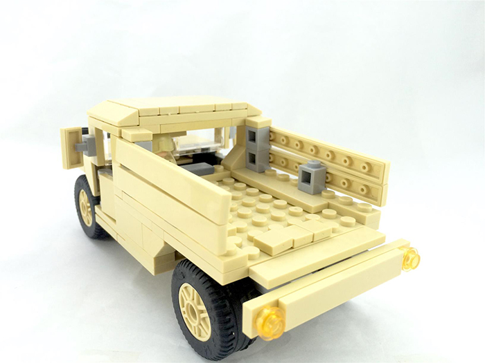 Decool 2112 Technic Modern War Military Army Humvee Cargo Troop Transporter Building Blocks