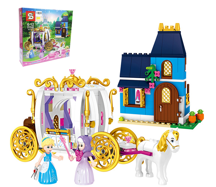 SY949 Disney Princess Cinderellas Enchanted Evening Building Block Sets