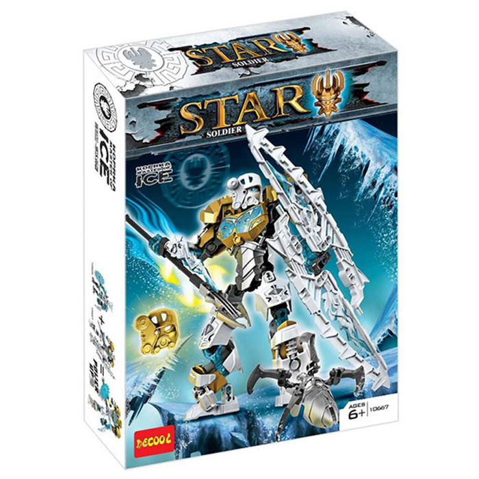 Decool 10667 Star Soldier Ice Master Super Heroes Building Block Sets