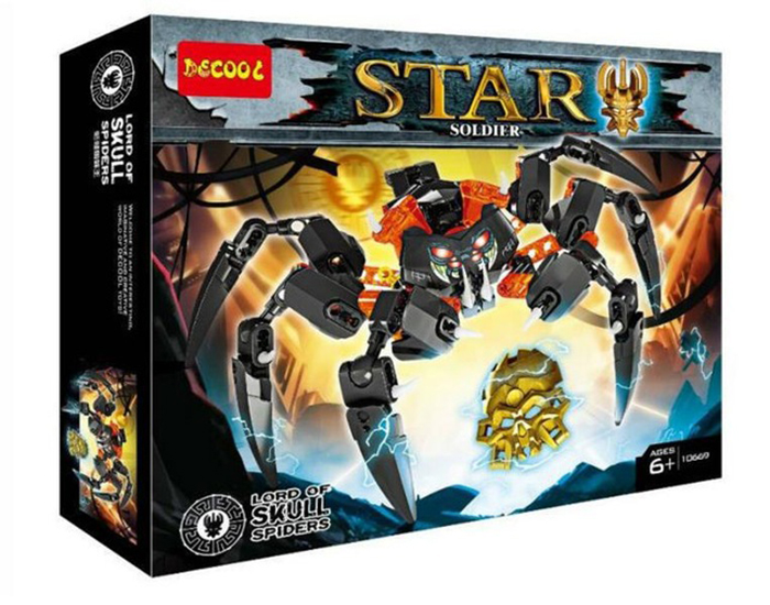 Decool 10669 Star Soldier Lord of Skull Spider Heroes Boys Birthday Gift