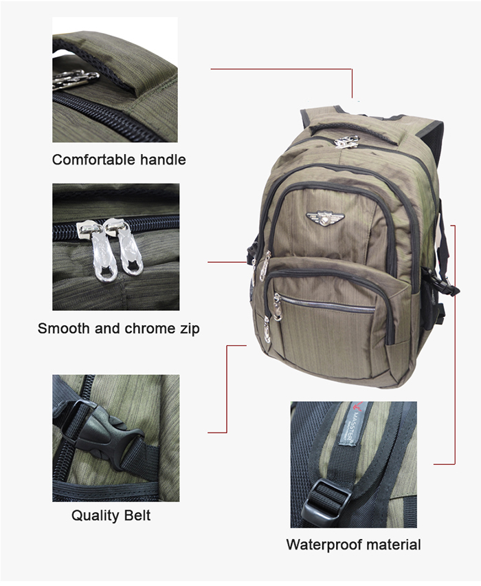 Masster 12509HS School Bag Travel Leisure Backpack