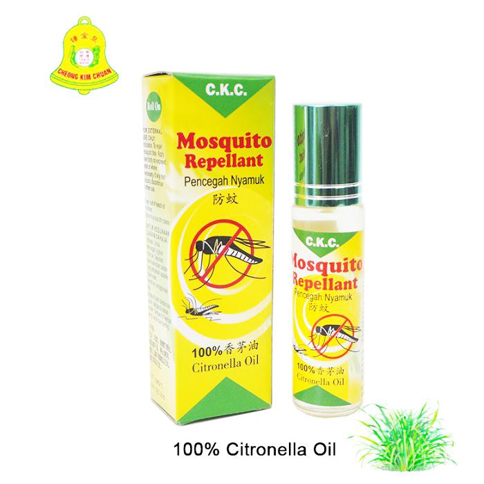 Cheong Kim Chuan Mosquito Repellent 10ml 100% Citronella Roller Design