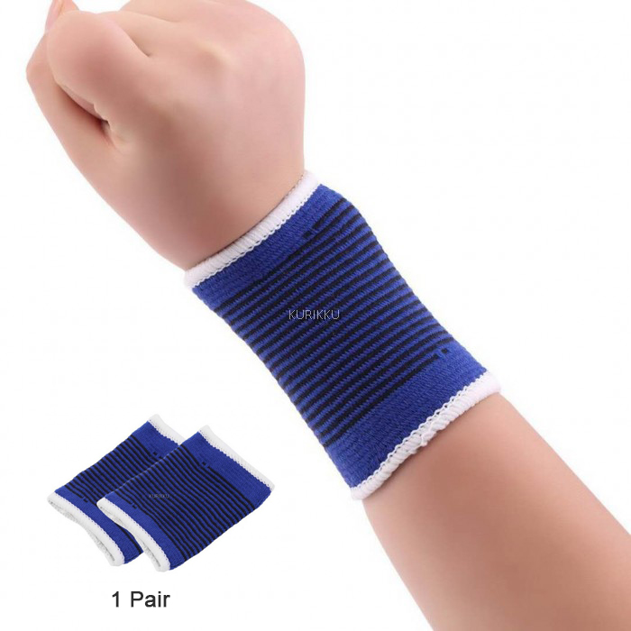 Sports Brace Wrap Wrist Support Wristband Wrist Strap Bandage 1 Pair