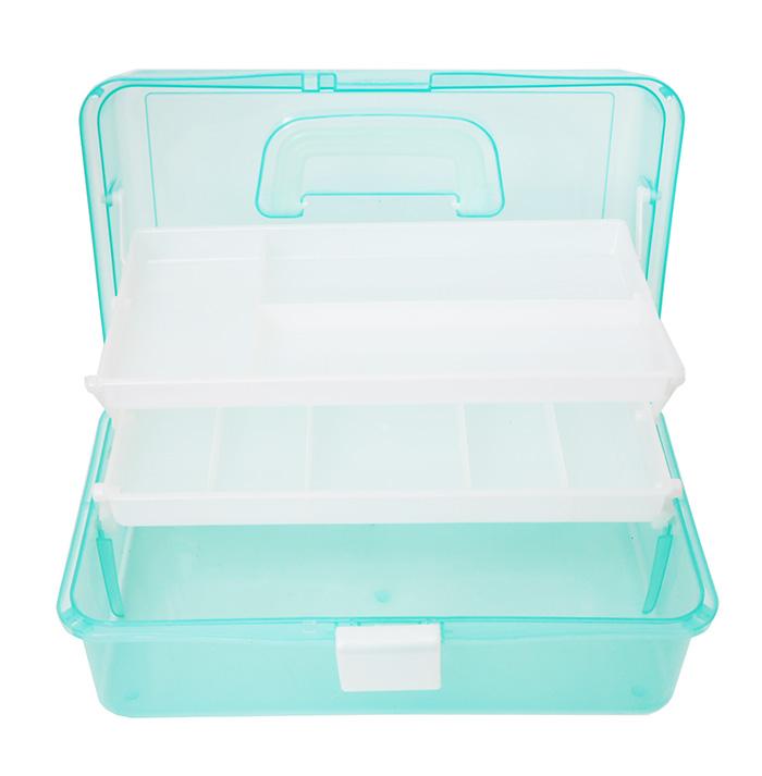 Multifunction 3 Layer Transparent Plastic Box Portable Kit Tackle Jewelry Tool Storage Case Box Large