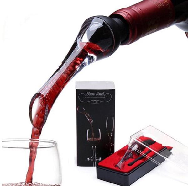 White Red Wine Aerator Spout Bottle Stopper Pourer Decanter Aerating Bar Tool