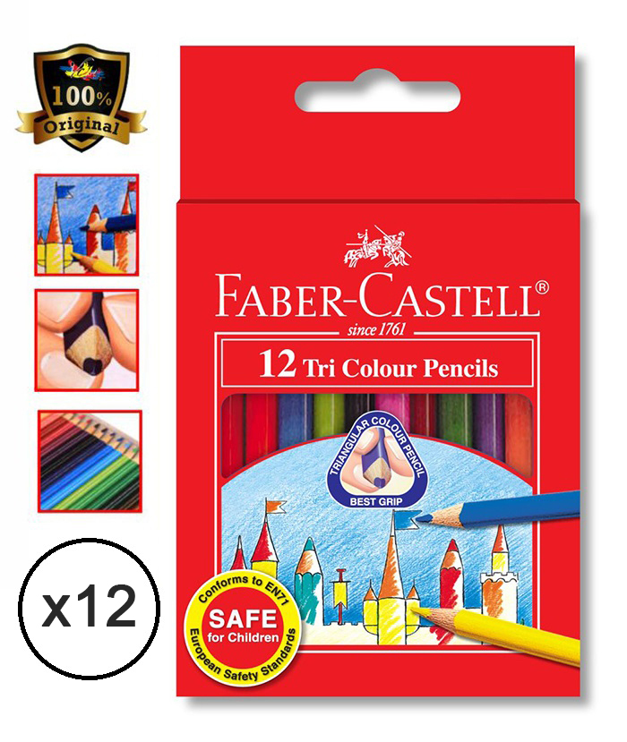 Faber-Castell TRI-GRIP Colour Pencils 115832 12'S (12 Boxs)