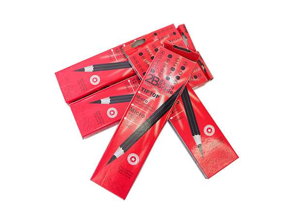 Tip Top 2B Exam Grade Pencil Micro Black Lead Pencils TT-6602 12pcs (12 Box) RED