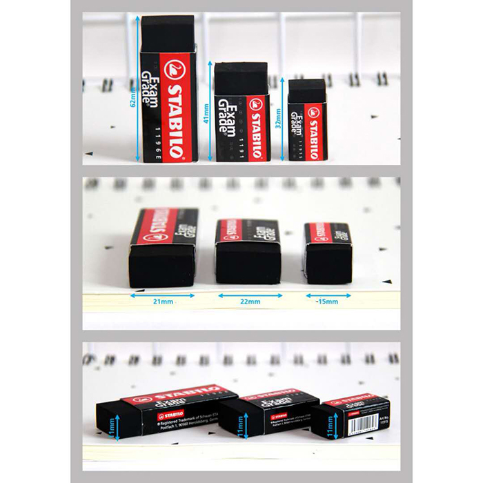 STABILO Exam Grade Dust-Free Eraser (30pcs)