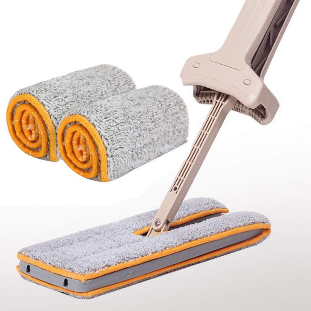 Microfiber Mop Cloth for Lazy Double Sided Flat Mop (2pcs/1set)