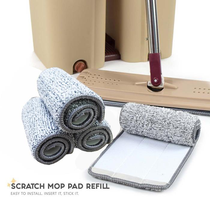 Scratch Mop Microfiber Mop Pad Cloth Refill (1pcs)