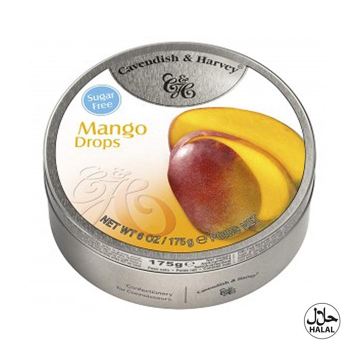 Cavendish & Harvey Exotic Mango Drops Sugar Free 175g