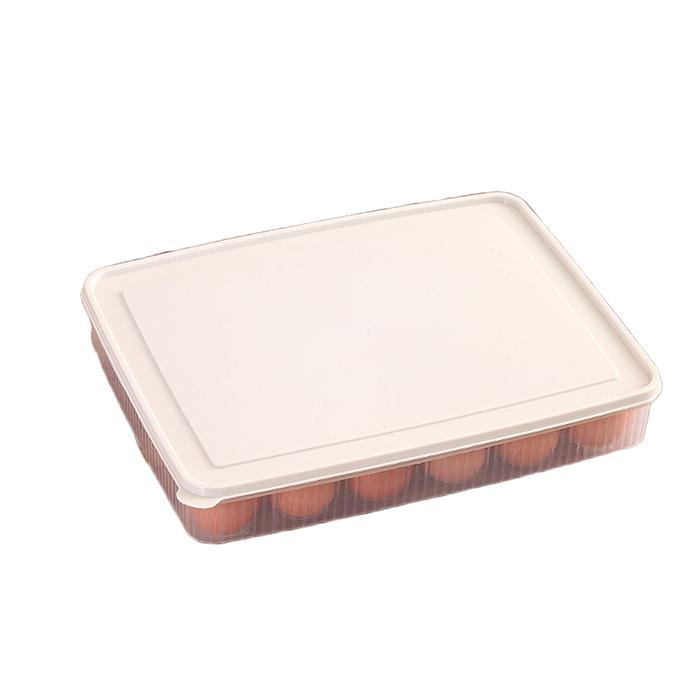 Plastic Refrigerator Egg Storage Box 24 Eggs Holder Food Storage Container