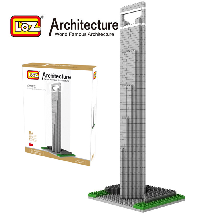 LOZ World Famous Architecture SWFC Pudong Shanghai China Micro Building Block 1170pcs
