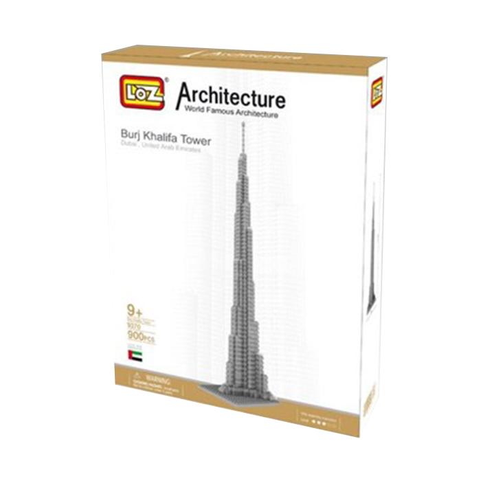 LOZ World Famous Architecture Burj Khalifa Tower Dubi USE Micro Building Block Toy 890pcs