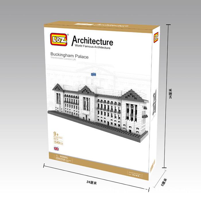 LOZ World Famous Architecture Buckingham Palace Westminster London UK Micro Building Block 1540pcs