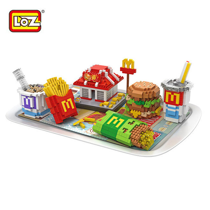 LOZ 9391 Delicious Food Fast Food Set Meal Building Block Toy
