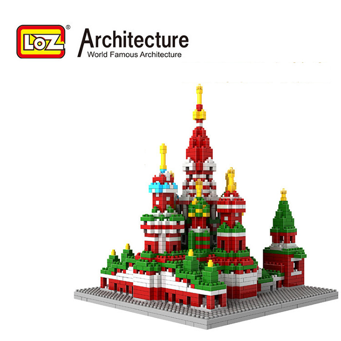 LOZ World Famous Architecture Vasile Assumption Cathedral Moscow Russia Micro Building Block 1860pcs