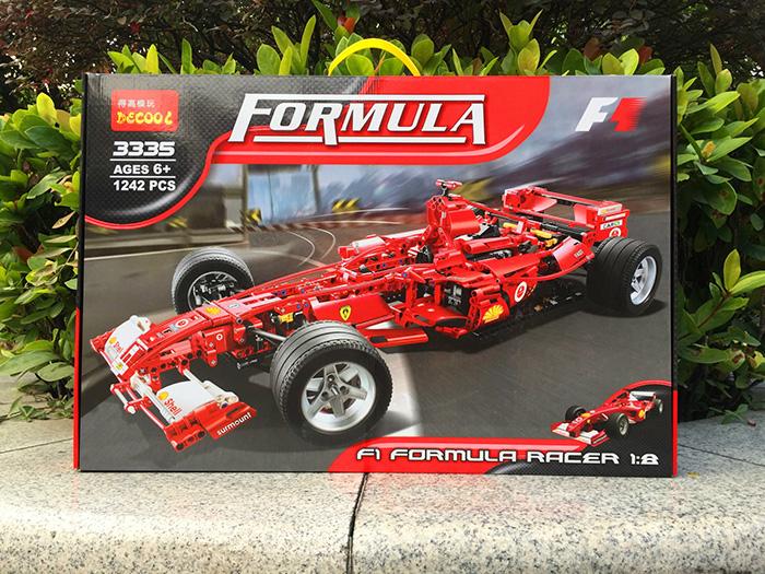 Decool 3334 Ferrari Formula F1 Racing Car 1:10 Block Sets Toys 726pcs