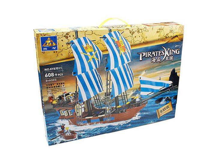 Kazi KY87011 Pirates King Ship Set Building Blocks Bricks Toys Model 608PCS