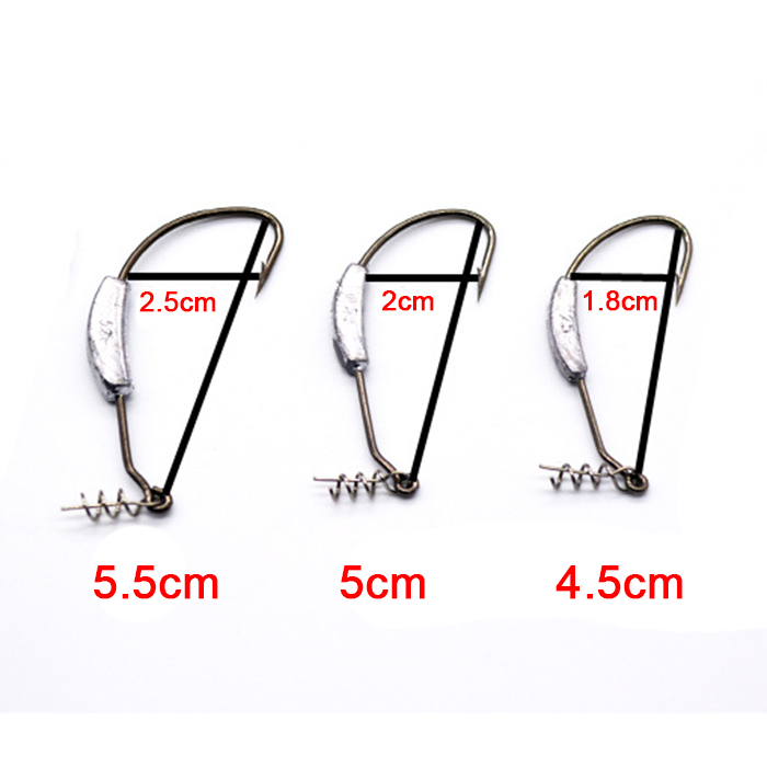 Soft Rubber Jig Head Hook Fishing Lead Lure Hard Baits 3pcs/Set