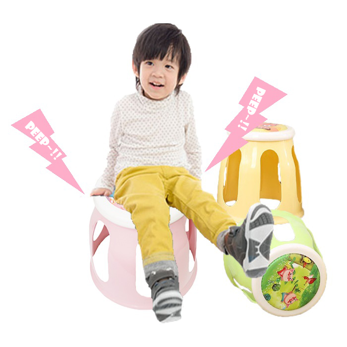 Plastic Cartoon Children Kid Sound Stool Chair