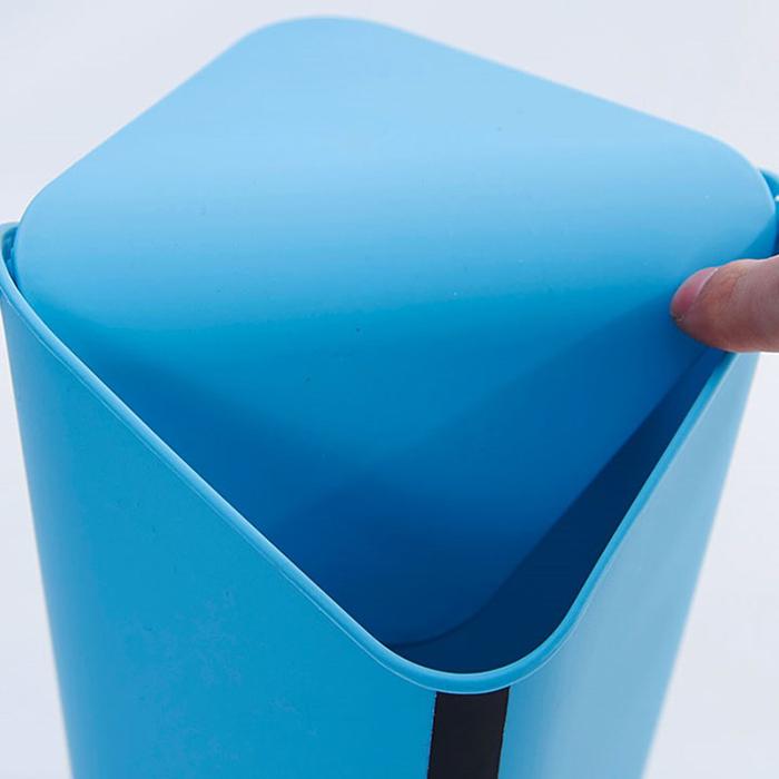 Household 8L/2L Plastic Home Office Desk Corner Trash Can Bin Dustbin