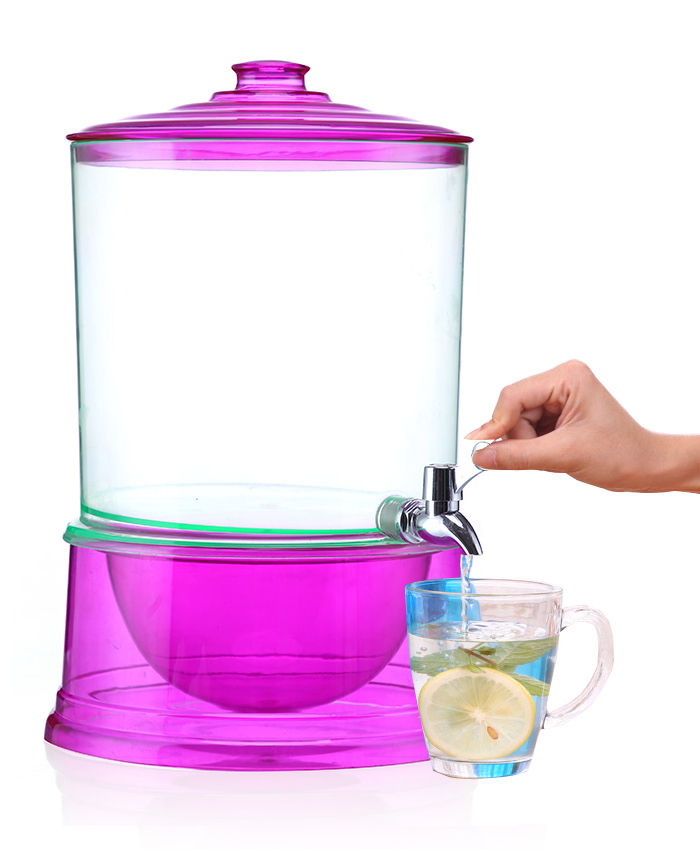 Multilayer Stackable Colorful 2 Compartment Beverage Dispenser Drinking Water Camping 2x8L