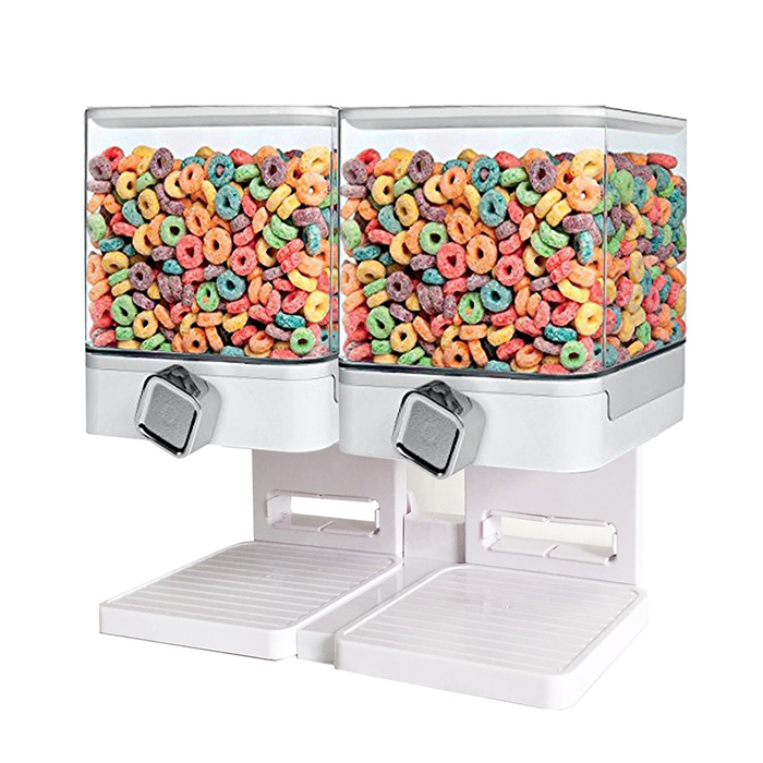 Double Dispenser Corn Flakes Dispenser Storage