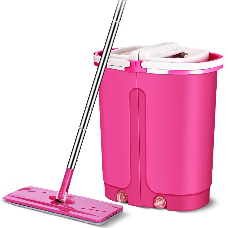Self Clean Magic Flat Mop With Light Bucket Home Cleaning Scratch Space Saving