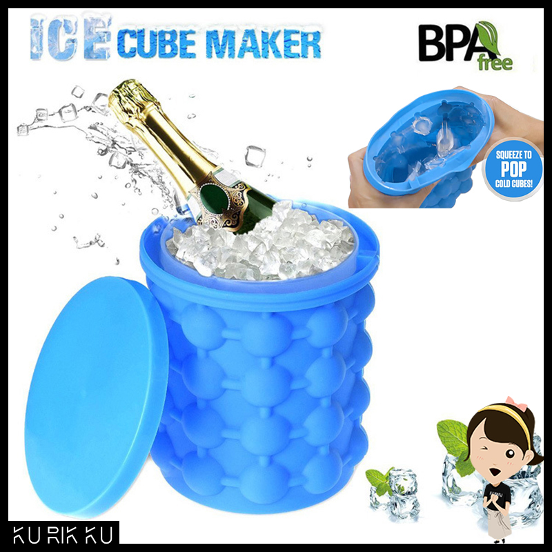 Ice Cube Maker Genie Silicone Space Saving Ice Genie Cube Maker