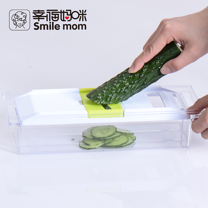 Smile Mom 5 In 1 Multi-functional Vegetable Fruit Slicer Cutter Kitchen Tool with Food Container B642