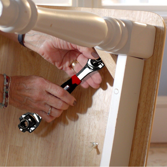 48 in 1 Multipurpose Bolt Wrench 360 Degree Rotation Spanner Universal Wrench