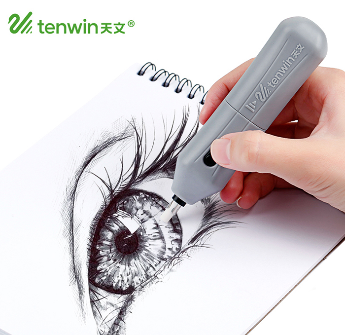 Tenwin Refillable Electric Battery Eraser School Pencil Eraser Stationery