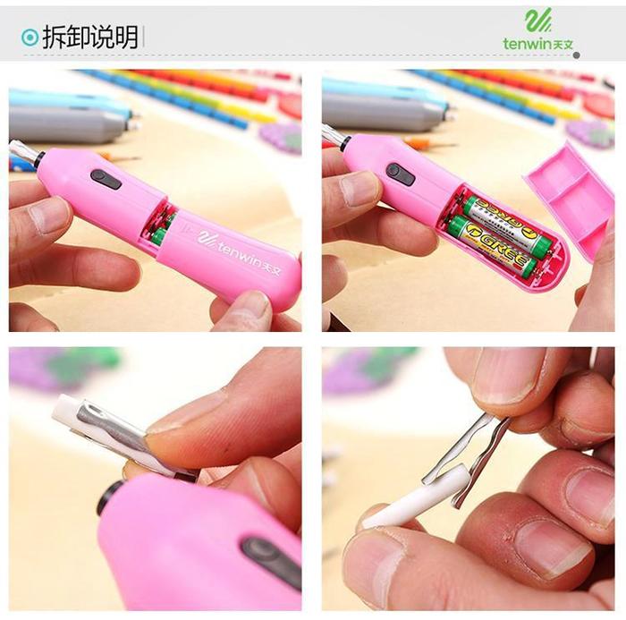 Tenwin Refillable Electric Battery Eraser School Pencil Eraser Stationery